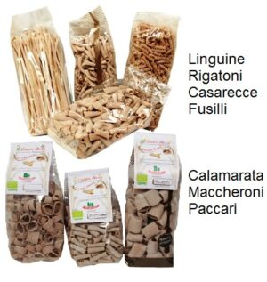 Le varie tipologie di Pasta